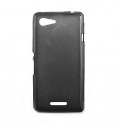Coque Sony Xperia E2 / E3 Silicone Gel givré - Noir