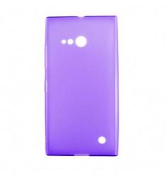 Coque Nokia Lumia 730 / 735 Silicone Gel givré - Violet Translucide