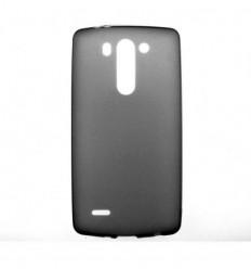 Coque LG G3S Silicone Gel givré - Noir
