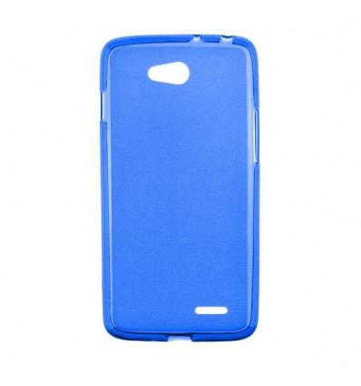 Coque LG L90 Silicone Gel givré - Bleu Translucide