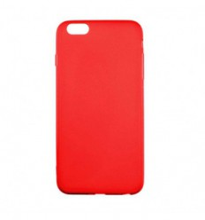 Coque Apple iPhone 6 / 6S Silicone Gel givré - Rouge Translucide