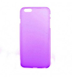 Coque Apple iPhone 6 / 6S Silicone Gel givré - Violet Translucide