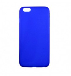 Coque Apple IPhone 6 Plus / 6S Plus Silicone Gel givré - Bleu Translucide
