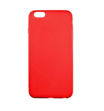 coque apple iphone 6 plus 6s plus silicone gel givre rouge translucide