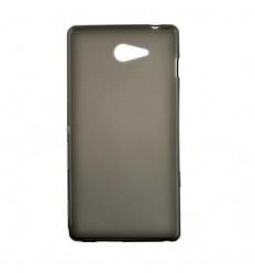 Coque Sony Xperia M2 Silicone Gel givré - Noir