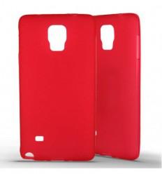 Coque Samsung Galaxy Note 4 Silicone Gel givré - Rouge Translucide