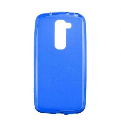 Coque LG Optimus G2 Mini Silicone Gel givré - Bleu Translucide