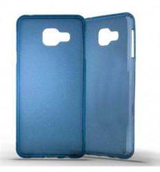 Coque Samsung Galaxy A3 2015 Silicone Gel givré - Bleu Translucide