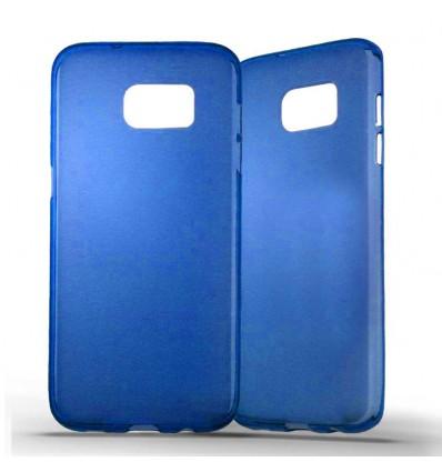 Coque Samsung Galaxy S7 Edge Silicone Gel givré - Bleu Translucide
