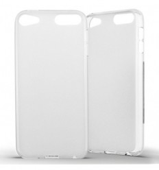 Coque Apple iPod Touch 5 / 6 Silicone Gel givré - Blanc Translucide
