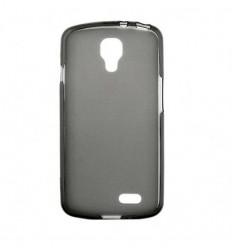 Coque LG F70 Silicone Gel givré - Noir