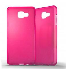 Coque Samsung Galaxy A5 2016 Silicone Gel givré - Rose Translucide