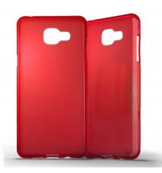 Coque Samsung Galaxy A5 2016 Silicone Gel givré - Rouge Translucide