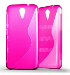 Coque HTC Desire 620 Silicone Gel S Line - Rose Translucide