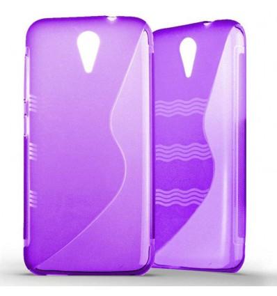 Coque HTC Desire 620 Silicone Gel S Line - Violet Translucide