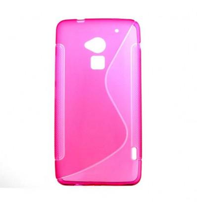 Coque HTC One Max T6 Silicone Gel S Line - Rose Translucide