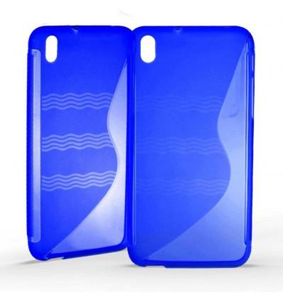 Coque HTC Desire 816 Silicone Gel S Line - Bleu Translucide