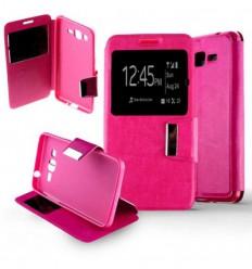 Etui Folio Samsung Galaxy Grand Prime / Grand Prime VE - Rose Fushia