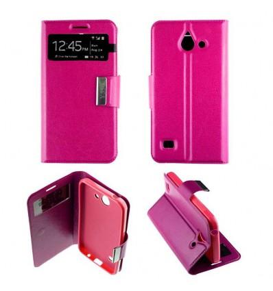 Etui Folio Huawei Ascend Y550 - Rose Fushia