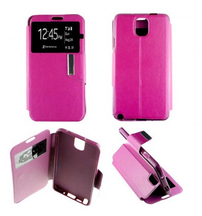 Etui Folio Samsung Galaxy Note 3 - Rose Fushia