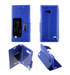 Etui Folio Nokia Lumia 730 / 735 - Bleu