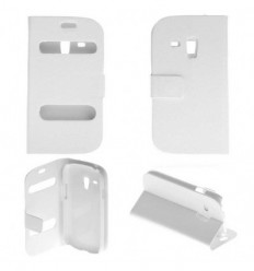 Etui Folio Samsung Galaxy S3 Mini - Blanc