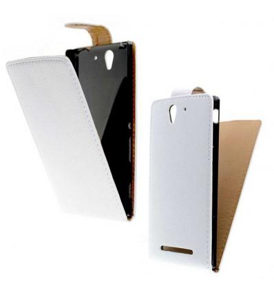 Etui Folio Sony Xperia C3 - Blanc