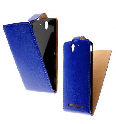 Etui Folio Sony Xperia C3 - Bleu