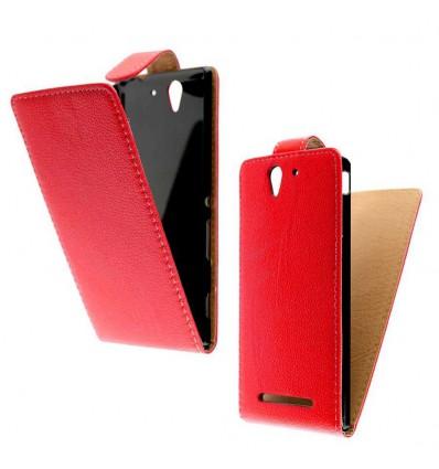 Etui Folio Sony Xperia C3 - Rouge