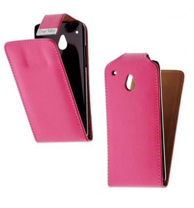 Etui Folio HTC One Mini - Rose Fushia