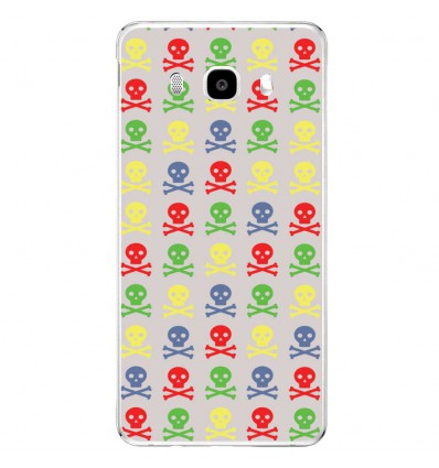 Coque en silicone Samsung Galaxy J5(2016) - Tete de mort coloree