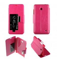 Etui Folio Nokia Lumia 630 / 635 - Rose Fushia
