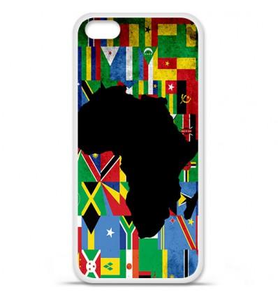 Coque en silicone Apple iPhone 5C - Drapeau Afrique