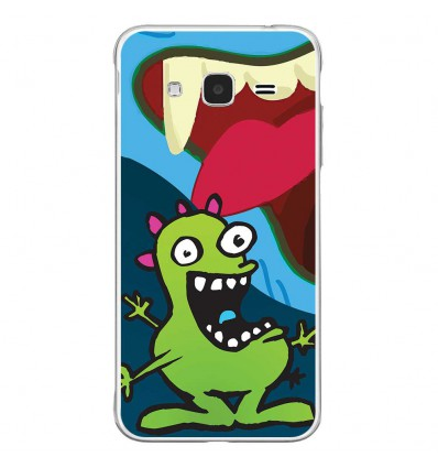 Coque en silicone Samsung Galaxy J3 2016 - Happy Monster