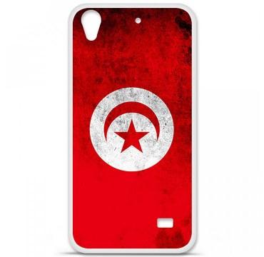 Coque en silicone Huawei Ascend G620S - Drapeau Tunisie