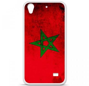 Coque en silicone Huawei Ascend G620S - Drapeau Maroc