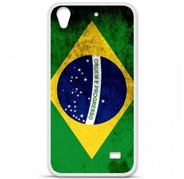 Coque en silicone Huawei Ascend G620S - Drapeau Brésil