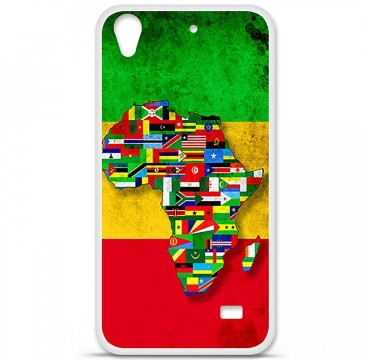 Coque en silicone Huawei Ascend G620S - Drapeau Africa United