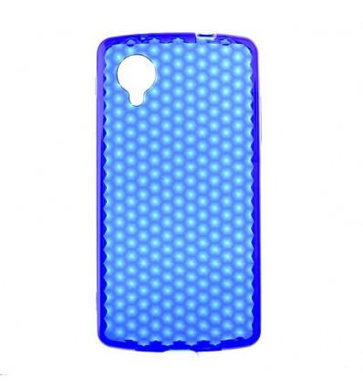 Coque en silicone effet strass LG Google Nexus 5 - Bleu Translucide