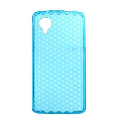 Coque en silicone effet strass LG Google Nexus 5 - Bleu Turquoise Translucide