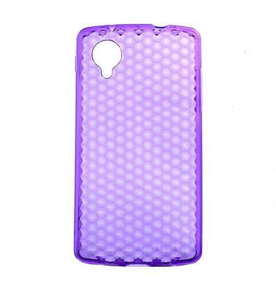 Coque en silicone effet strass LG Google Nexus 5 - Violet Translucide