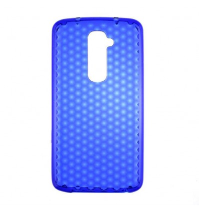 Coque en silicone effet strass LG Optimus G2 - Bleu Translucide