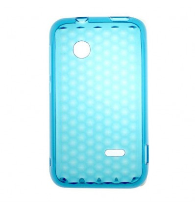 Coque en silicone effet strass Sony Xperia Tipo - Bleu Turquoise Translucide