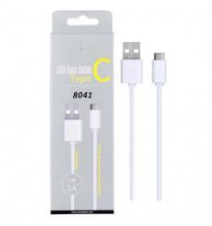 Câble Micro USB Type-C - Blanc