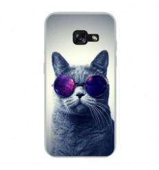 Coque en silicone Samsung Galaxy A3 2017 - Chat à lunette