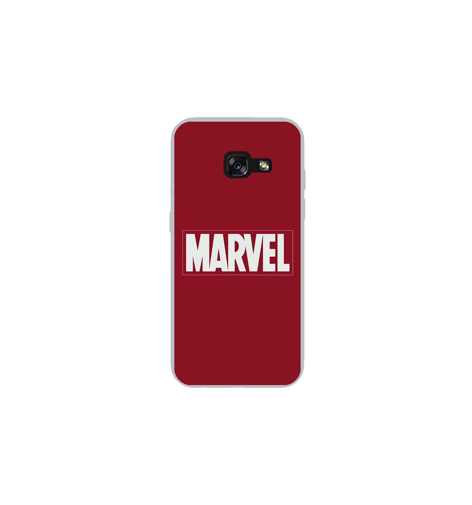 585d199ad64252 Coque en silicone Samsung Galaxy A3 2017 - Marvel