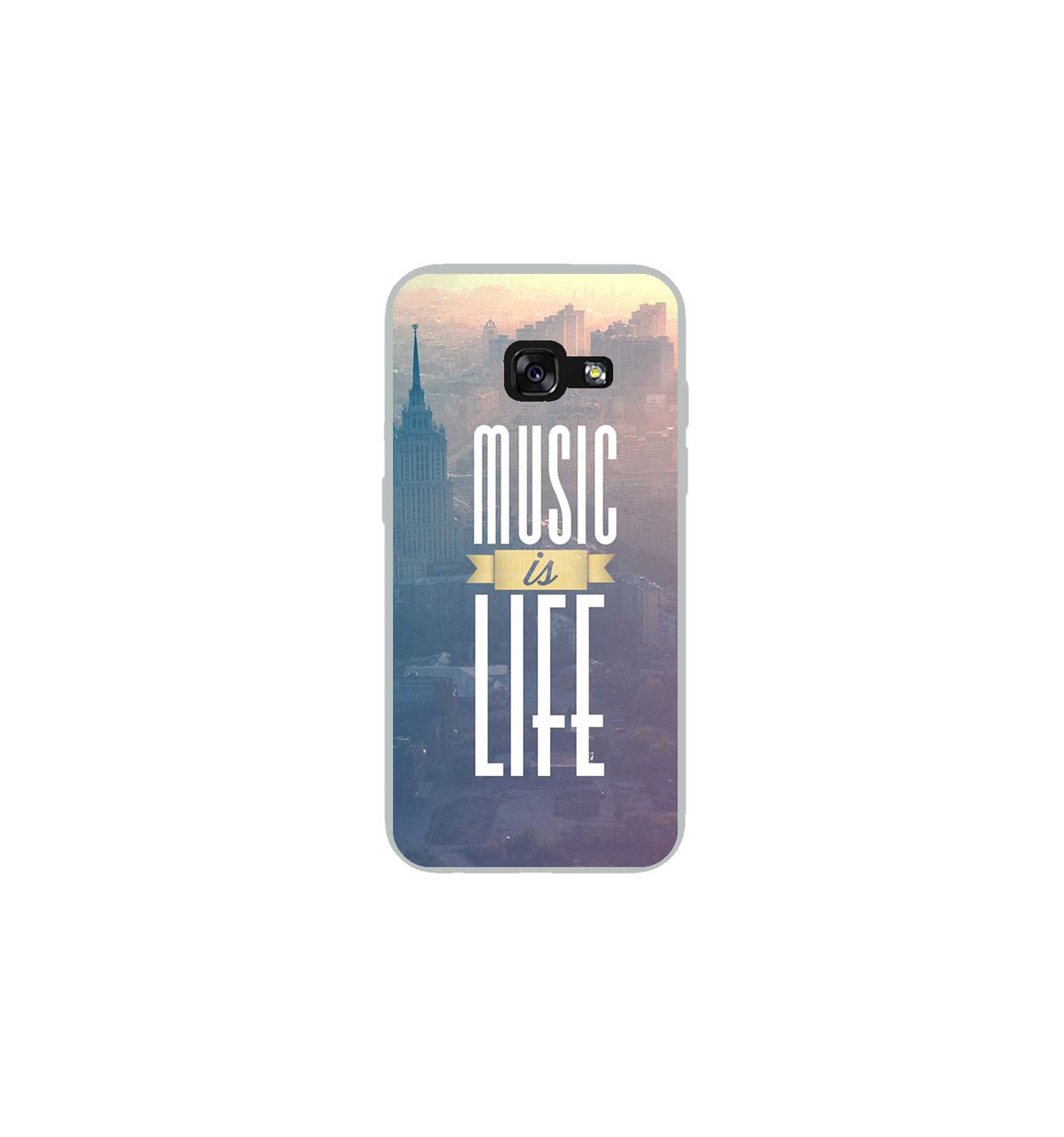 coque en silicone samsung galaxy a3 2017 music is life. Black Bedroom Furniture Sets. Home Design Ideas