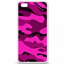 Coque en silicone Huawei P8 Lite - Camouflage rose