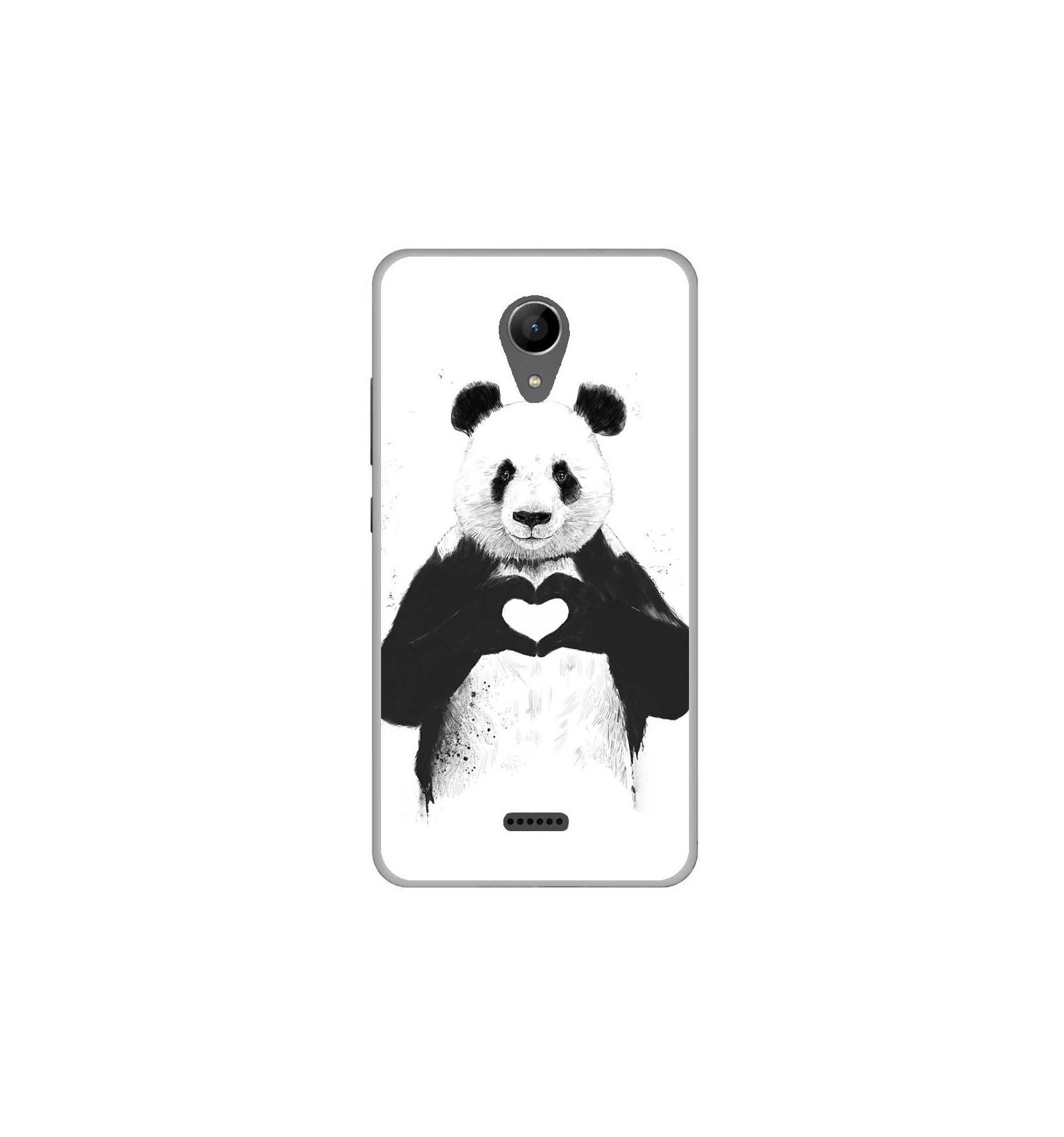 coque en silicone wiko freddy bs love panda. Black Bedroom Furniture Sets. Home Design Ideas