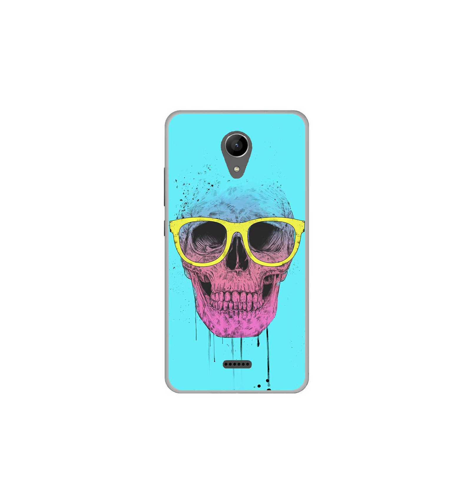 coque en silicone wiko freddy bs skull glasses. Black Bedroom Furniture Sets. Home Design Ideas